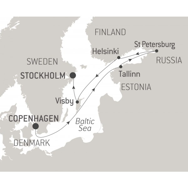 Map for Historic Cities of the Baltic Sea - 9 Days
