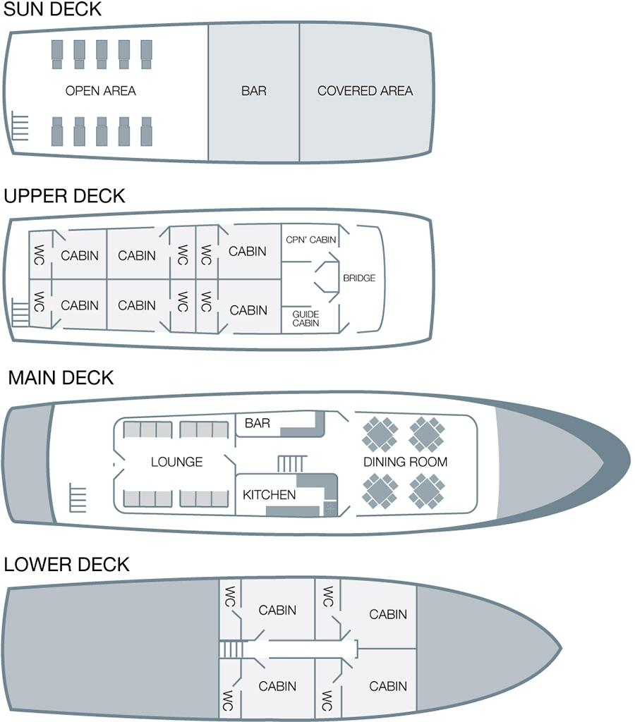 Cabin layout for Monserrat