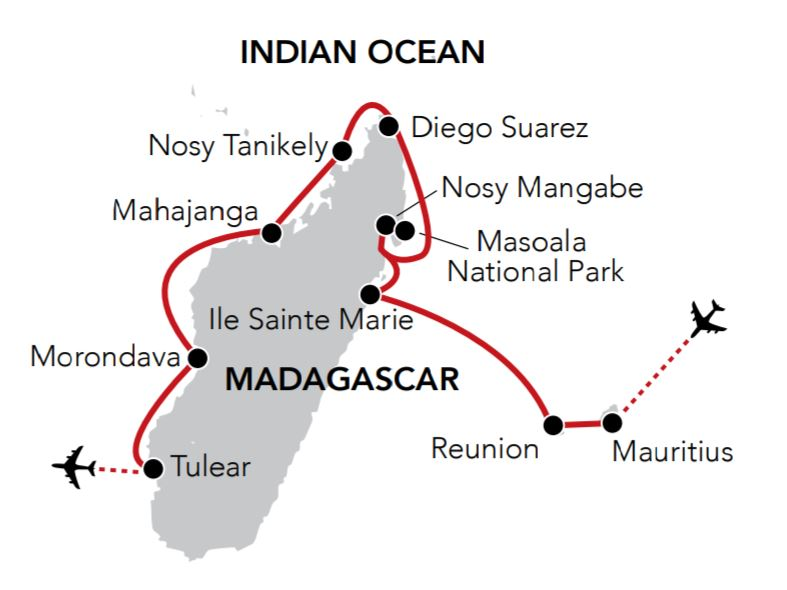 Map for Wonders of Madagascar