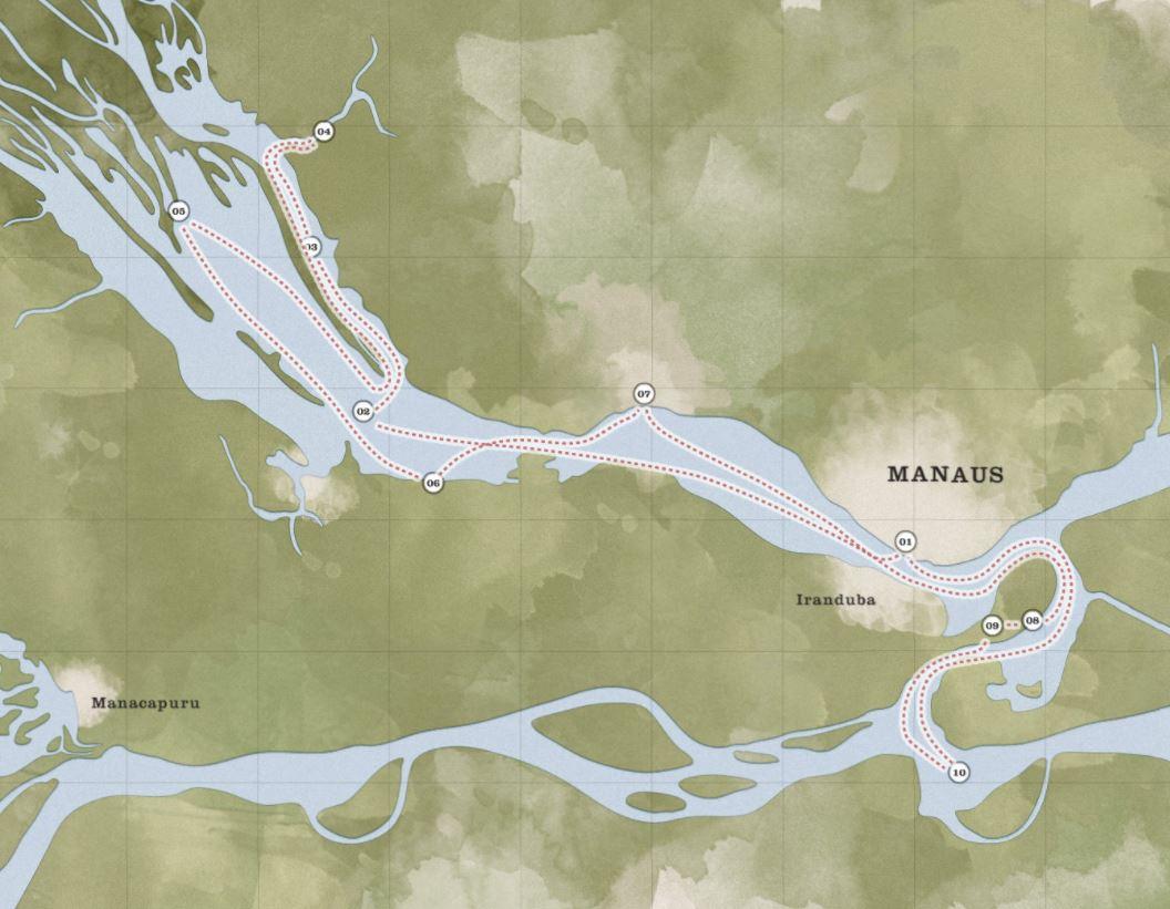 Map for Maguari Express