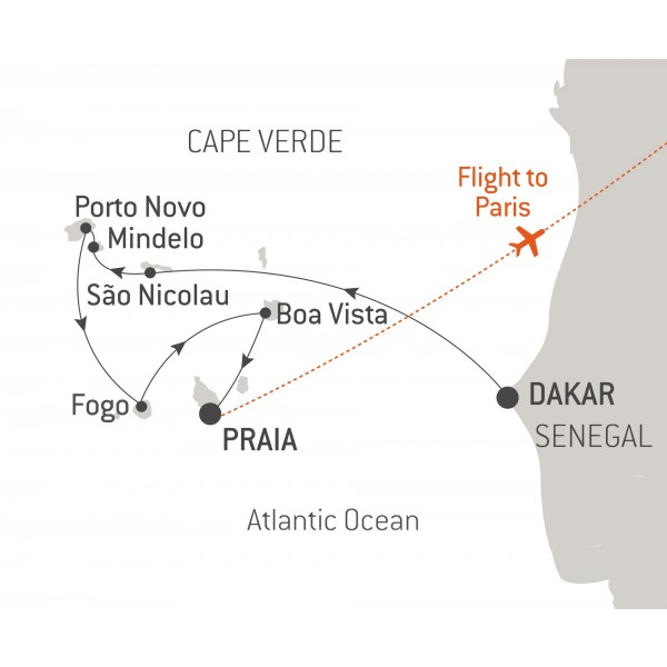Map for Cape Verde Cruise