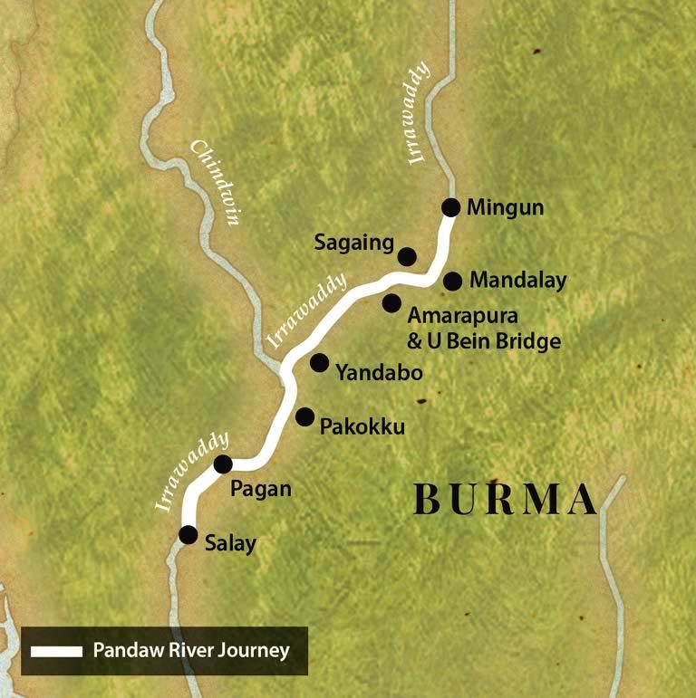 Map for Mandalay Pagan Packet (Downstream)