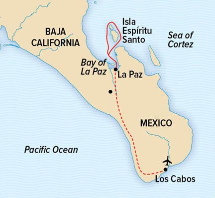 Map for Base Camp Baja: Espiritu Santo