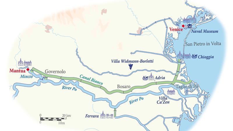 Map for Italy Cruise (La Bella Vita)