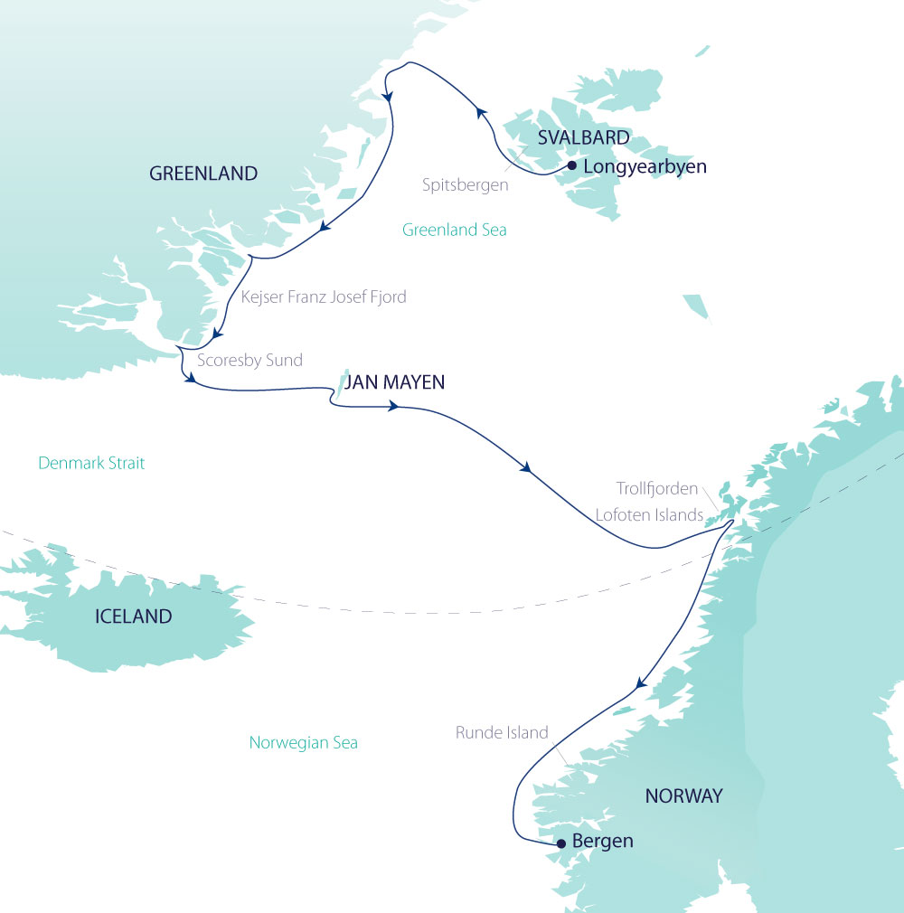Map for Arctic Discovery (Greg Mortimer)