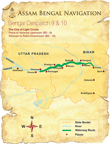 Map for The City of Light (ABN Rajmahal)