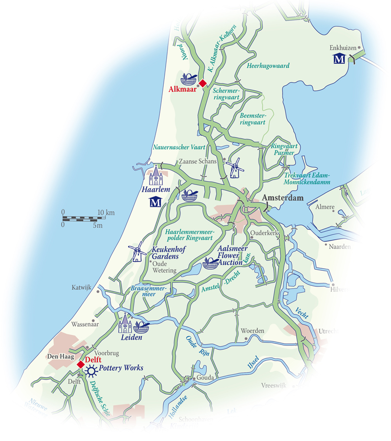 Map for Holland Cruise (Panache)