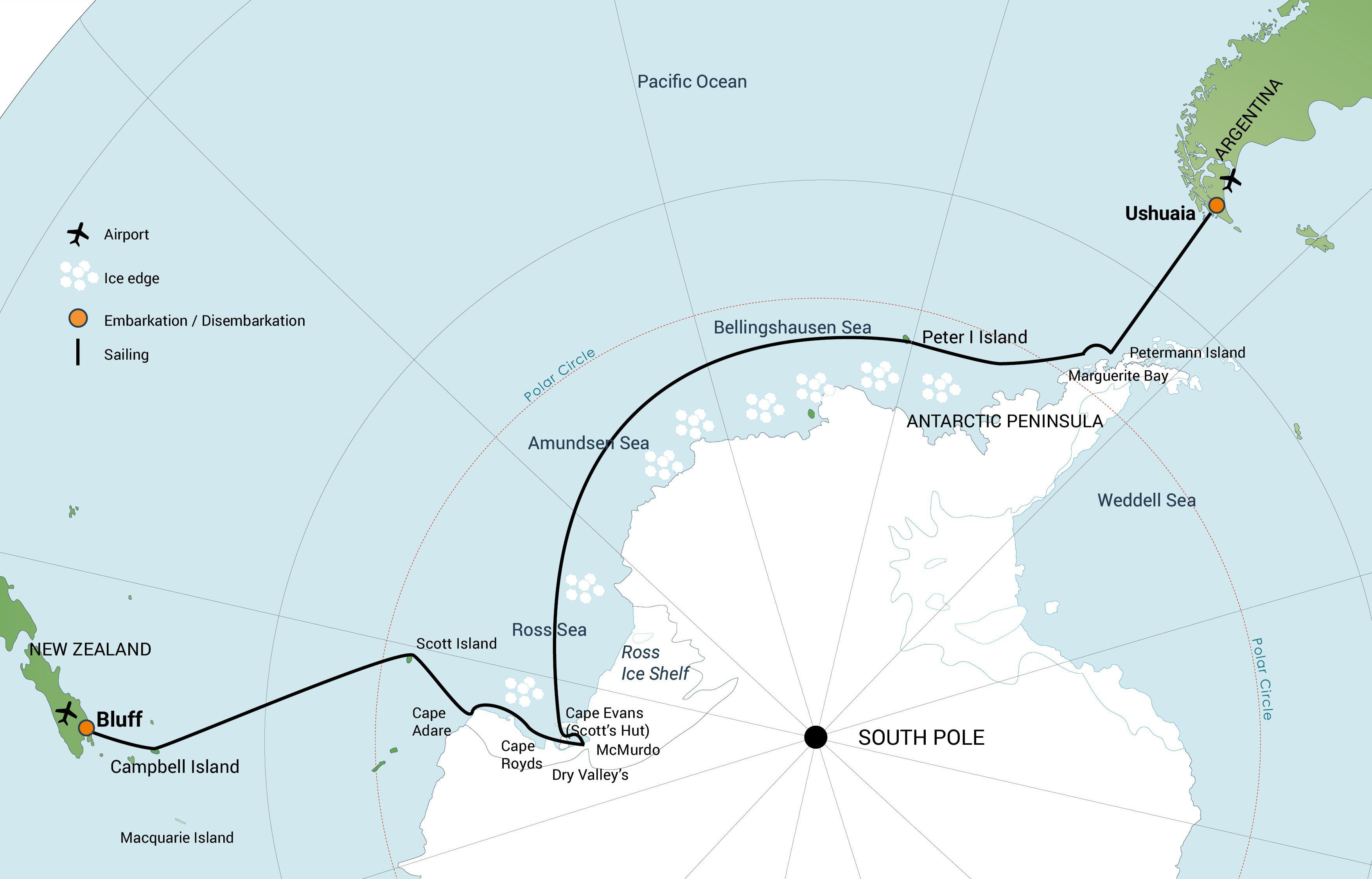 Map for Ross Sea Incl. Helicopters