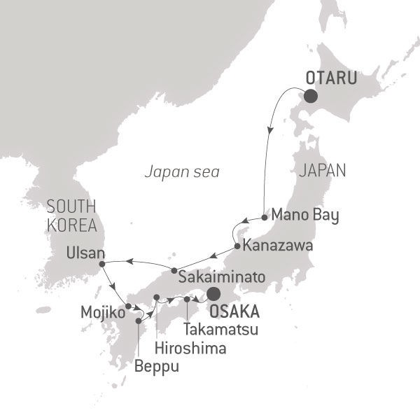 Map for Art and Culture of Japan