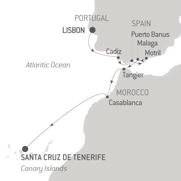 Map for From Lisbon to the Canary Islands