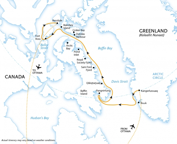 Map for Northwest Passage: In the Footsteps of Franklin