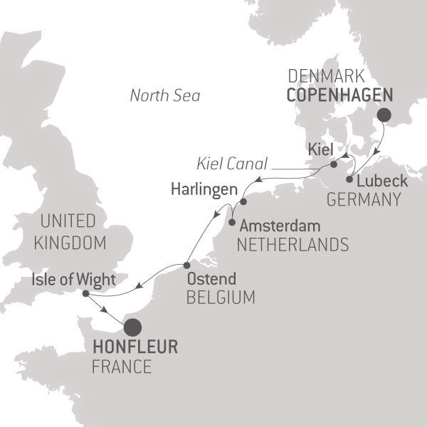 Map for Secrets of the North Sea