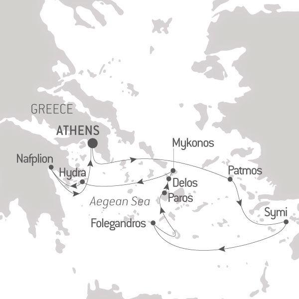 Map for Secrets of the Greek islands