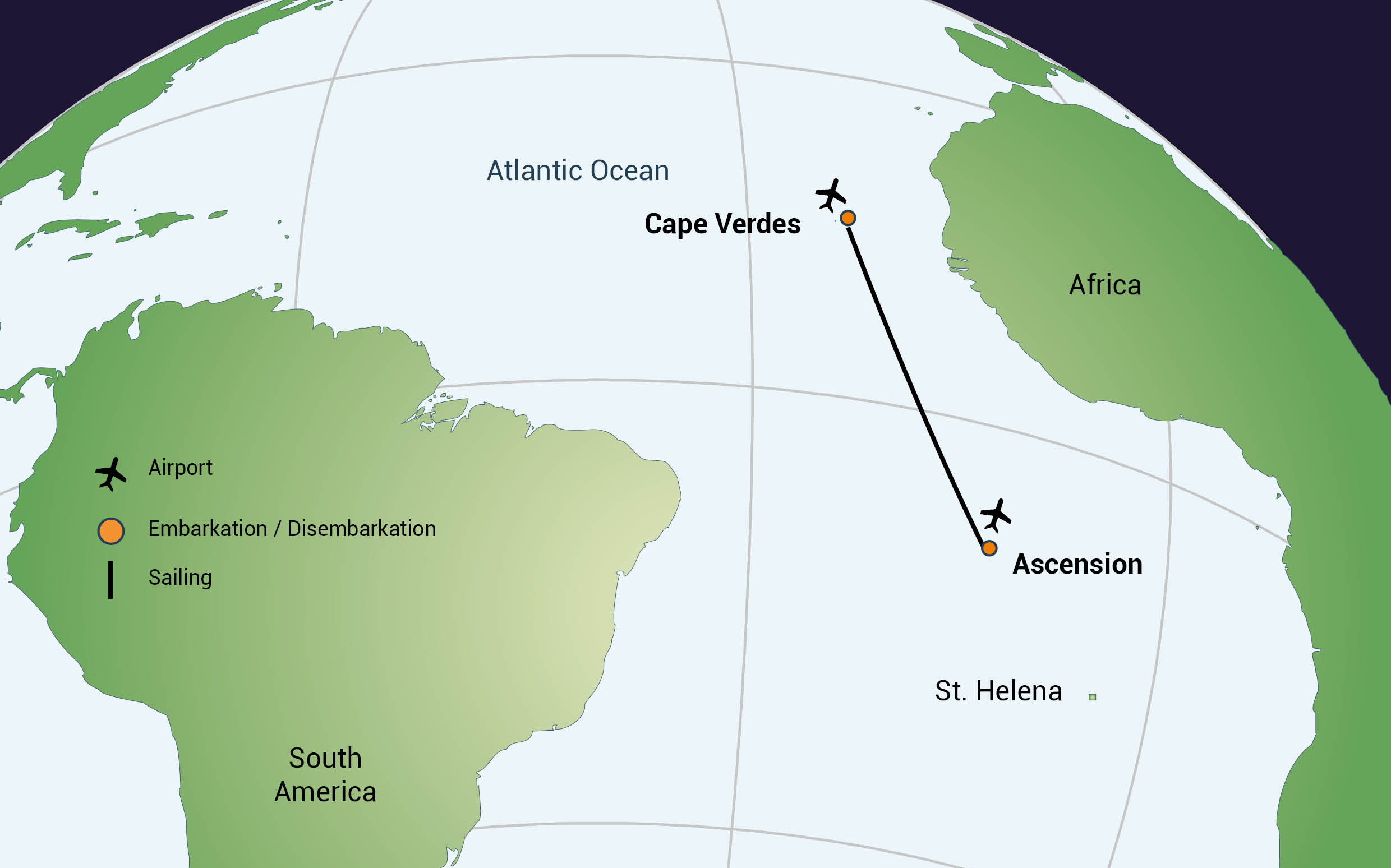 From Ascension Island to Praia