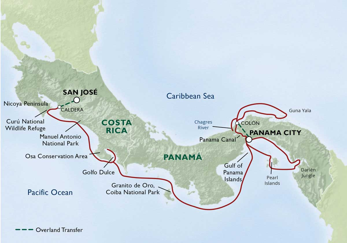 Map for Ultimate Costa Rica & Panamá