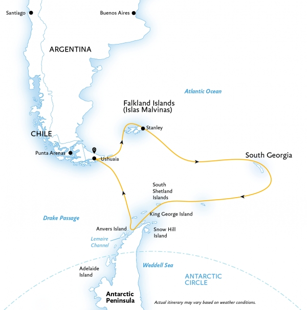 Map for Explorers and Kings of Antarctica