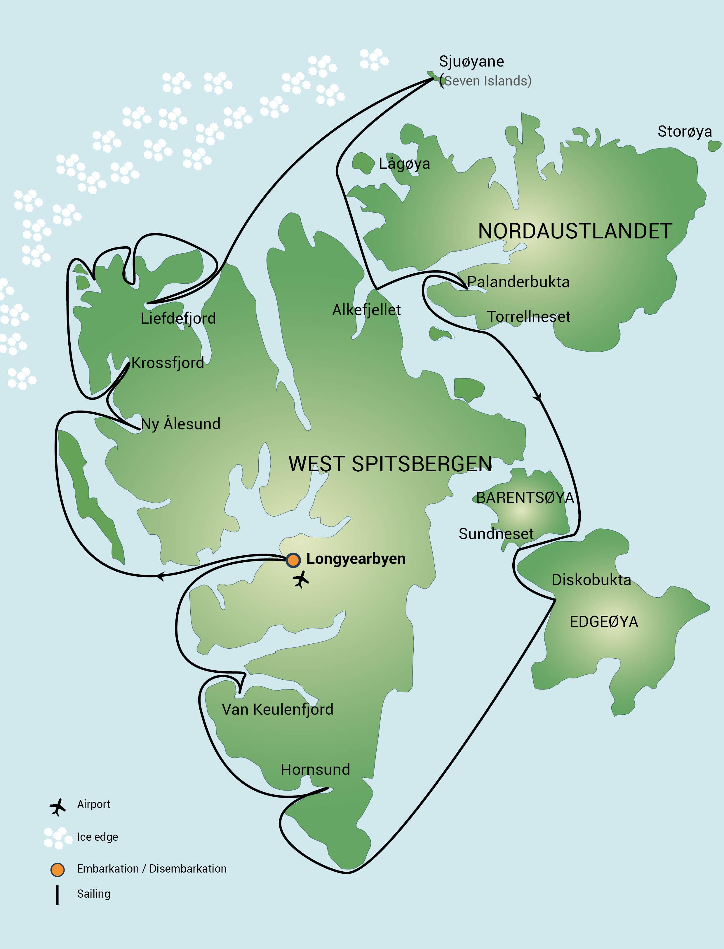 Map for Around Spitsbergen (Ortelius)