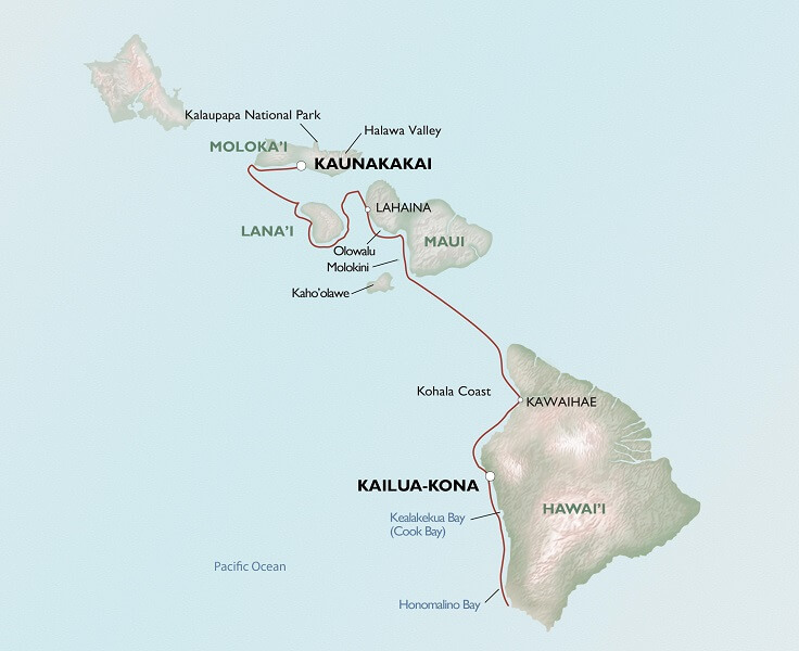 Map for Hawaiian Seascapes