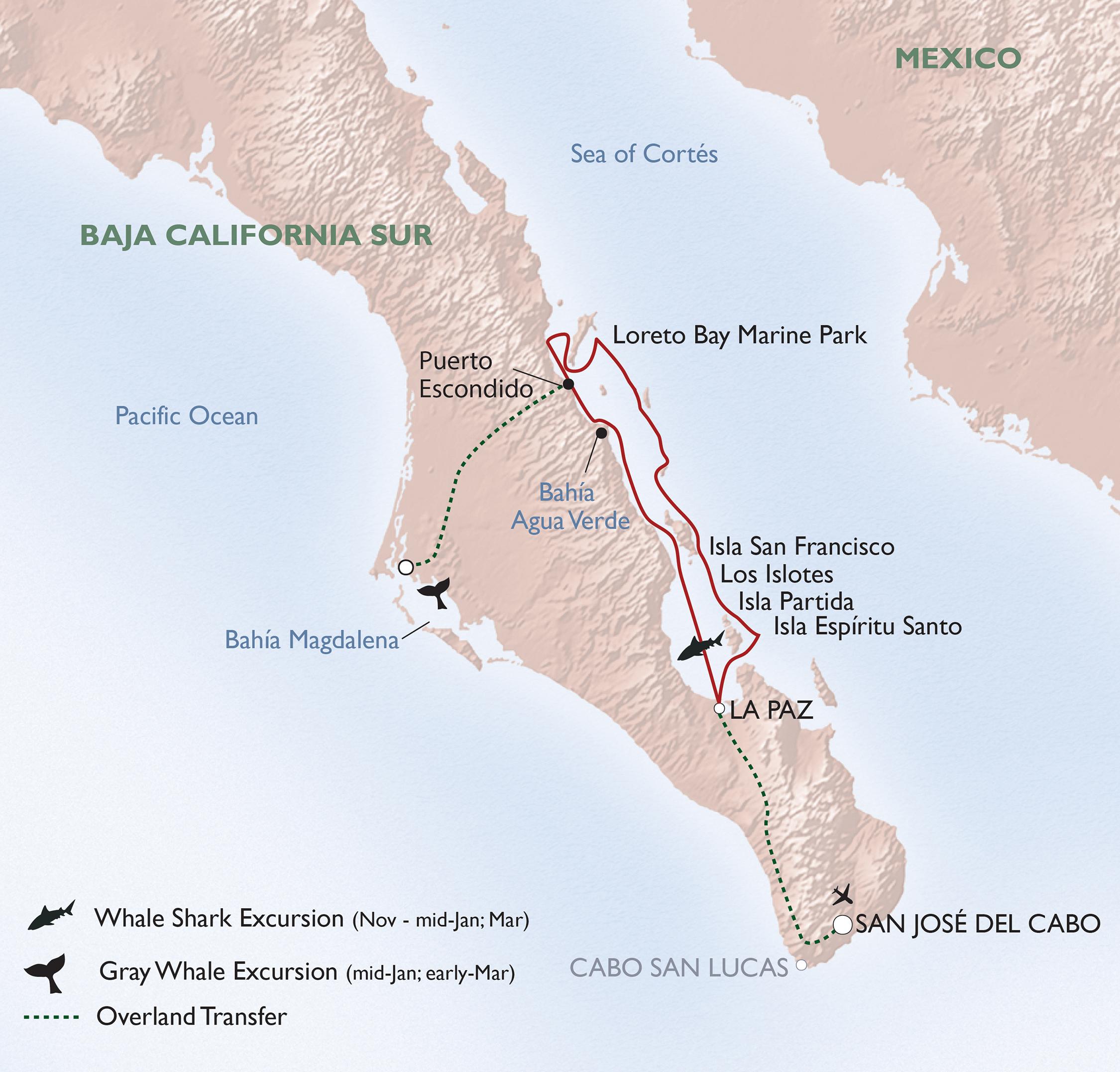 Map for Baja's Bounty