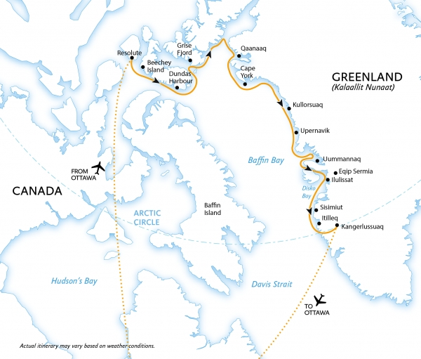 Map for Northwest Passage: Epic High Arctic