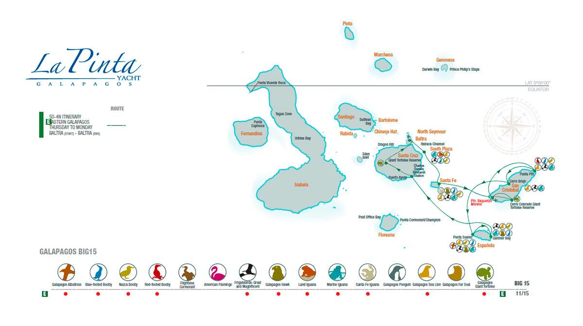 Map for Eastern Galápagos (La Pinta)