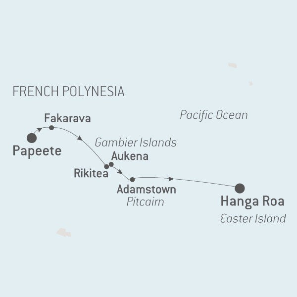 Map for Polynesia and Easter Island