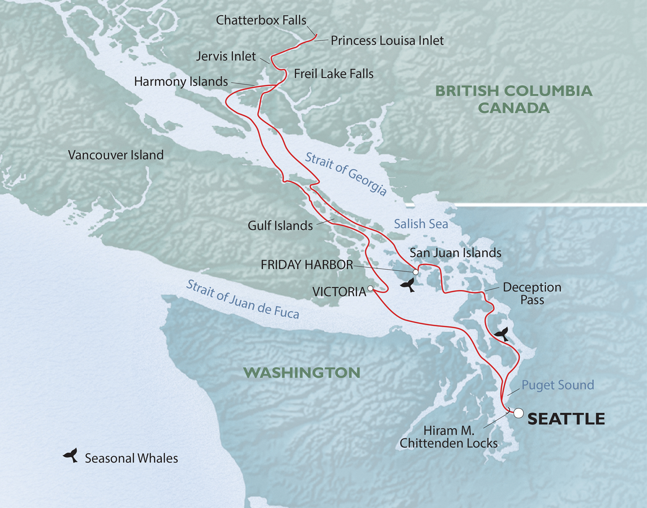 Map for British Columbia's Yachters' Paradise