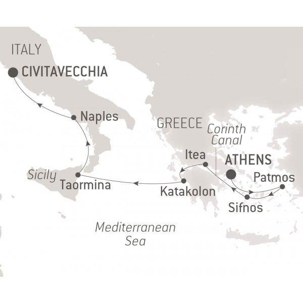 Map for The Classical World of the Mediterranean