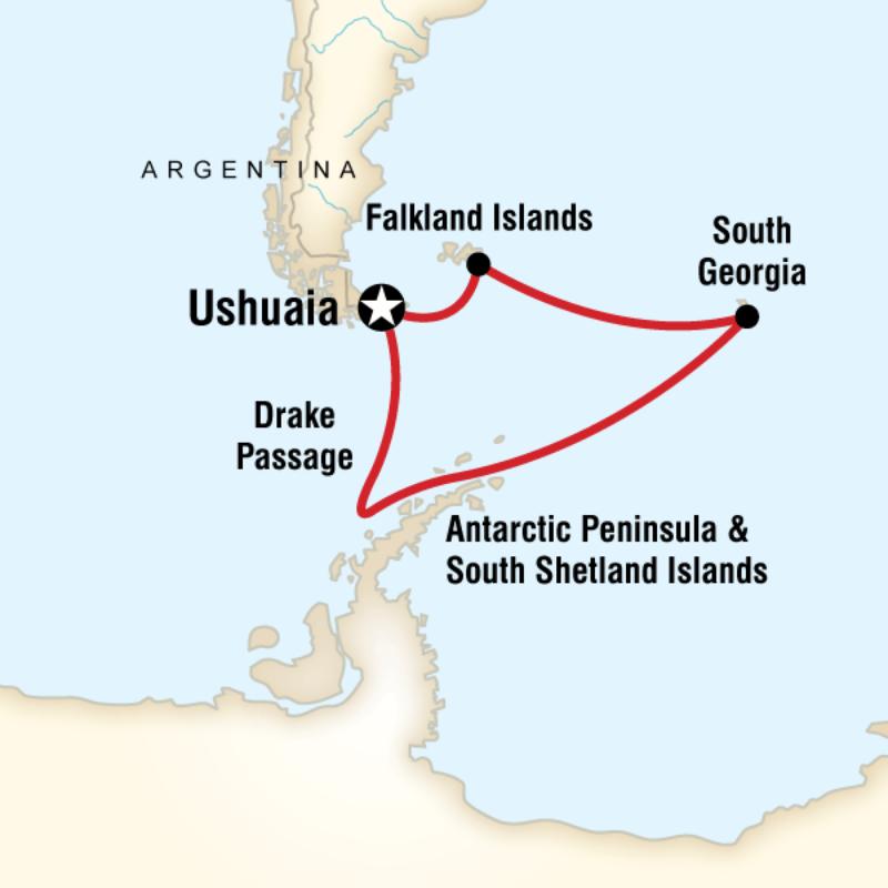 Map for Spirit of Shackleton