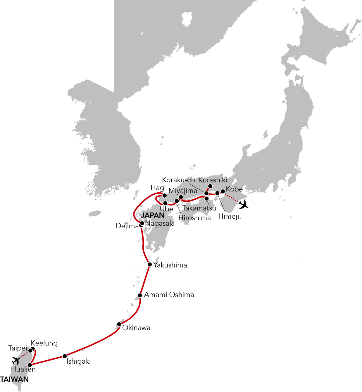 Map for Japan & Her Islands