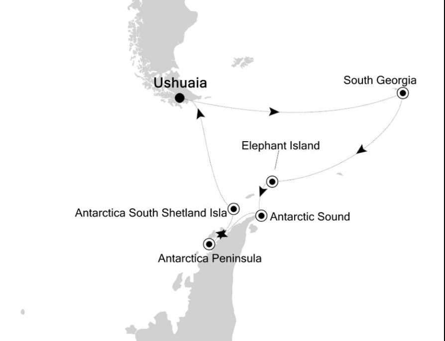 Map for Antarctica: the Last Untouched Continent