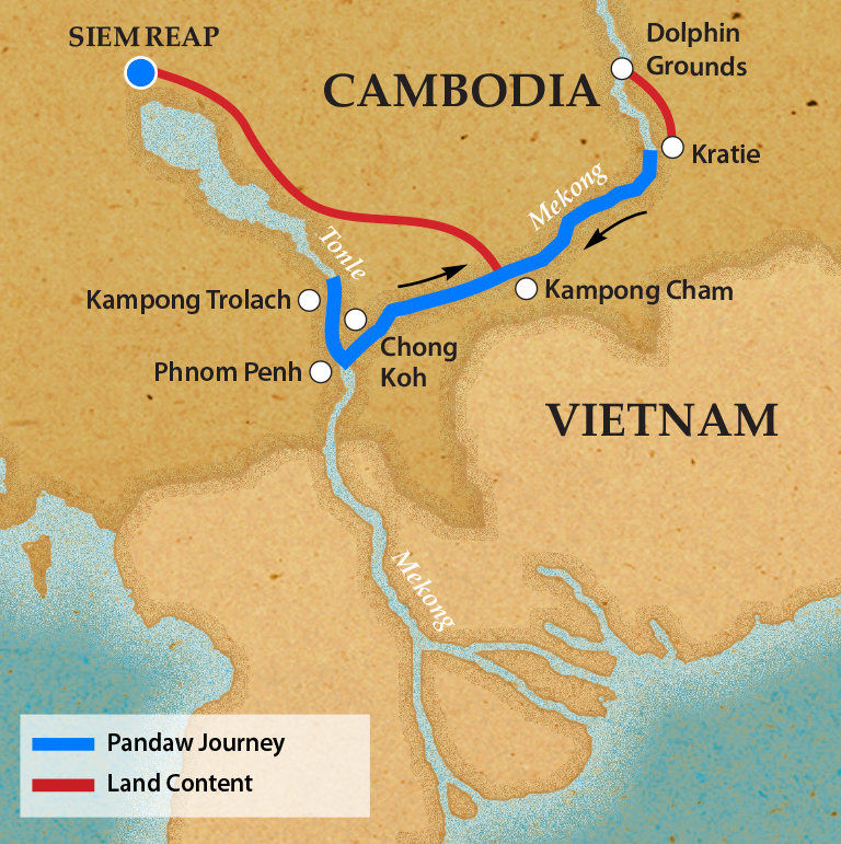 Map for Phnom Penh and Siem Reap (Downstream)