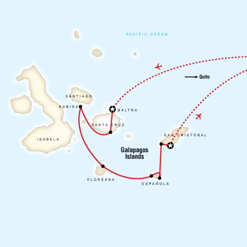 Map for Galápagos — South Islands