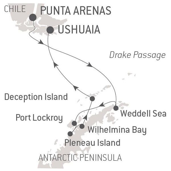 Map for Emblematic Antartica
