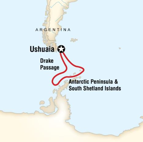 Map for Antarctica Classic