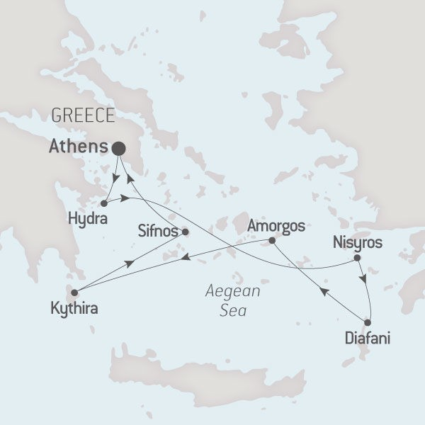 Map for Around the Aegean Sea