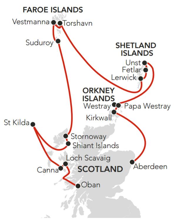 Map for Atlantic Island Odyssey