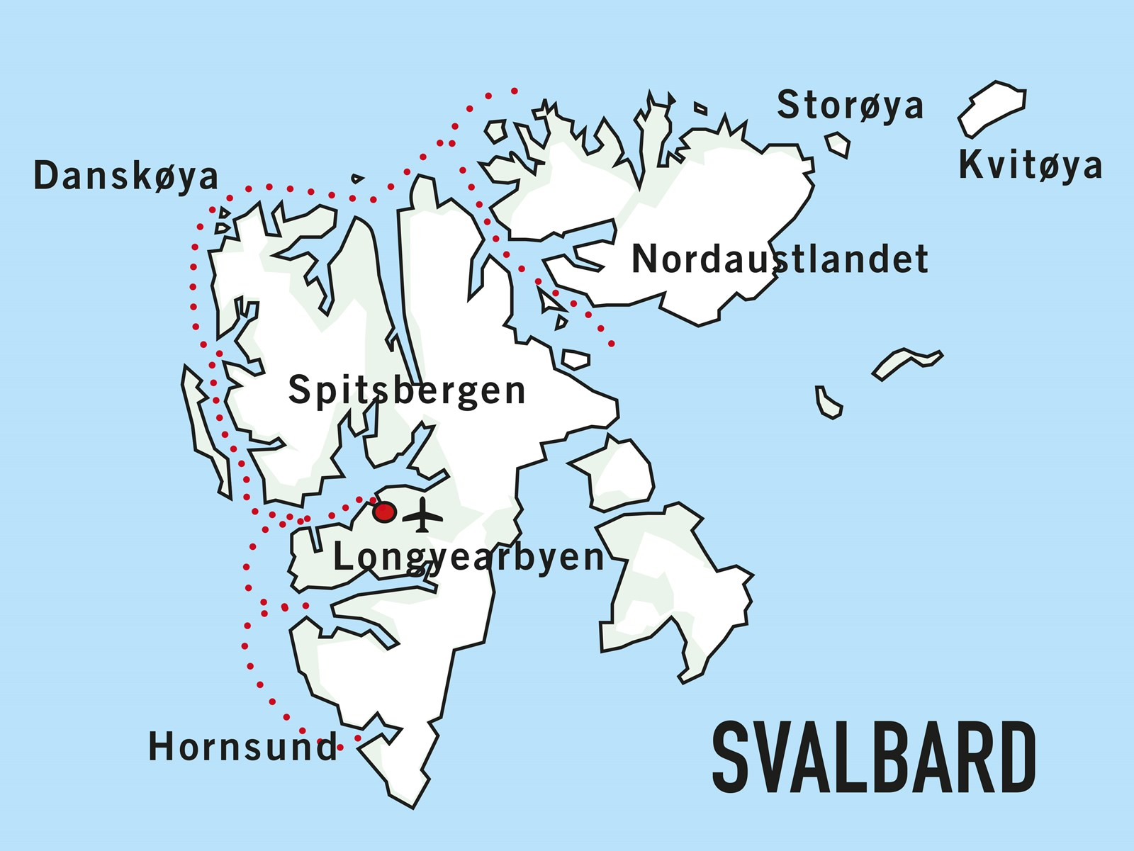 Map for Svalbard Adventure