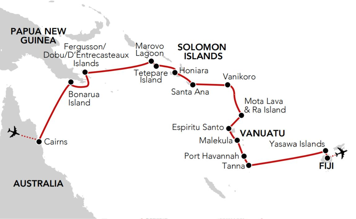 Map for Melanesian Odyssey