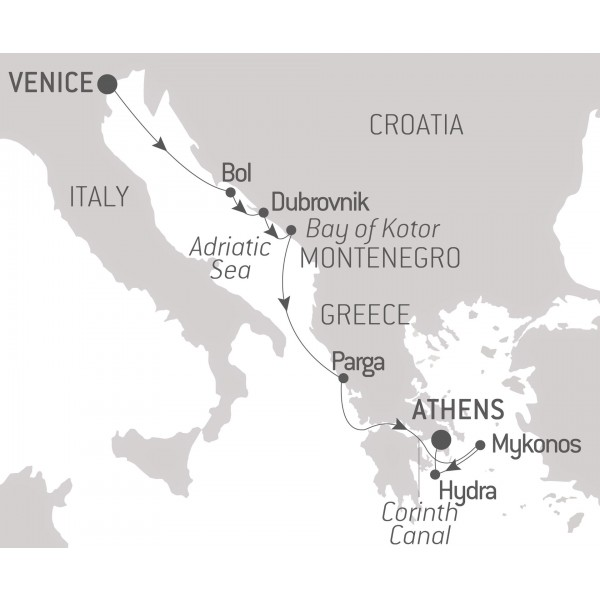 Map for From the Canals of Venice to the Stones of Athens