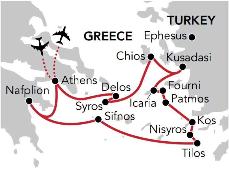 Map for Aegean Antiquities