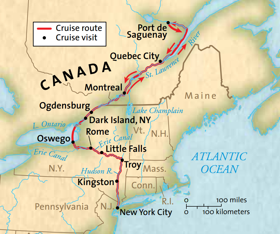 Map for The Saguenay (Grande Caribe)