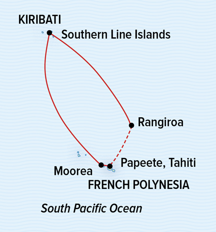 Map for Isles, Atolls, and Pristine Corals: Southern Line Islands