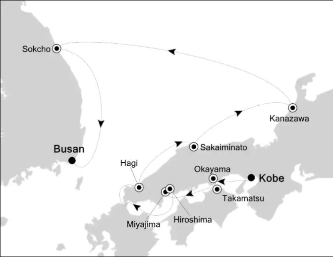 Map for Wonders of Japan
