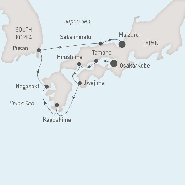 Map for The Best of Japan