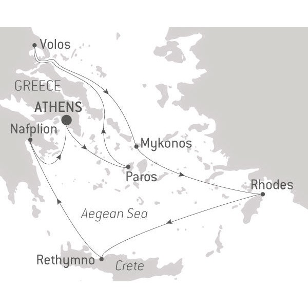 Map for Treasures of the Hellenic World