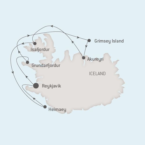 Map for Icelandic Mosaic