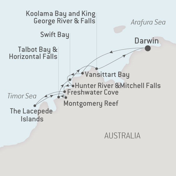 Map for Jewels of the Kimberley