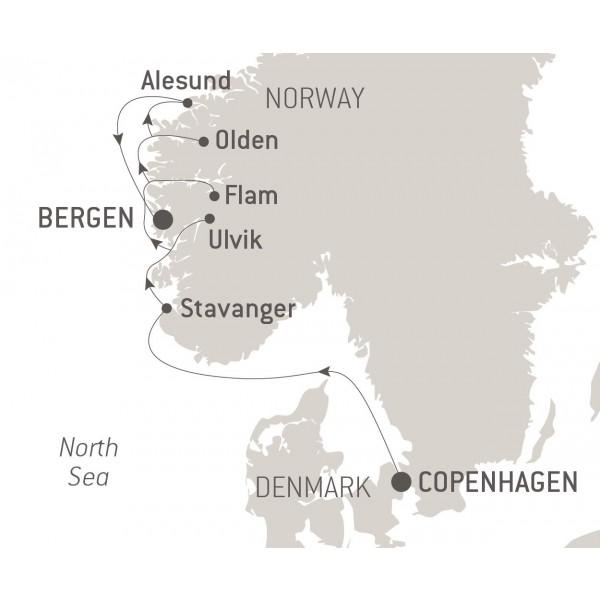 Map for Norwegian Treasures (Le Bellot)