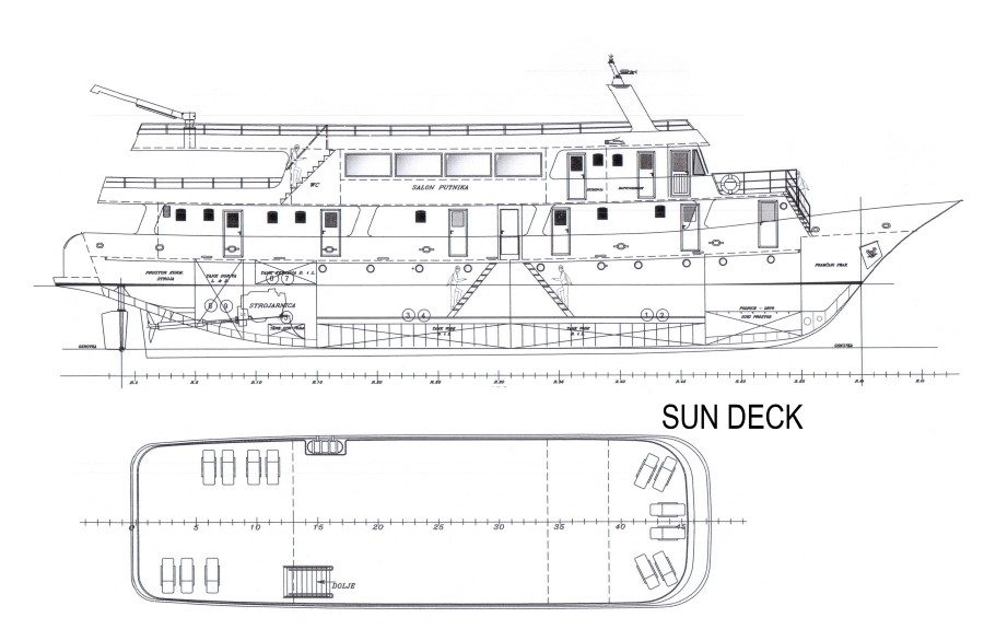Cabin layout for Croatian Premium Class Ship